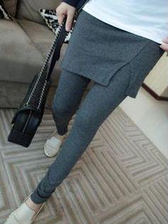 Fall Fashion Solid Color Stretchable Culottes Leggings