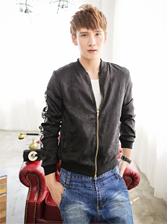 New Modern Men Stand Collar Embroidery Art Jacket Coat