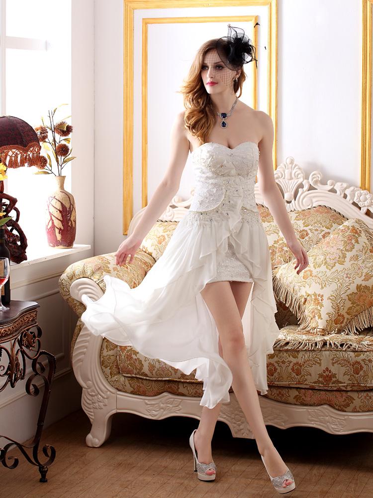 Unique Modern Style Goddess Strapless Pure Color Diamonds Beaded Dress