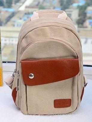 New Fashion Canvas Small School Khaki School Shoulder Bags