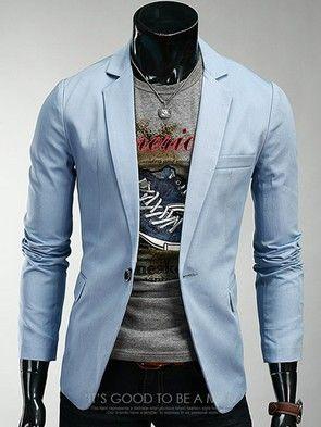 New Arrival Turn Collor Slim Pure Color Men Suit