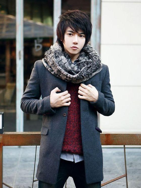 Newly Winter Stand Collar One Button Men Long Wool Coats
