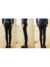 Korea Winter Men Pure Color Fitted Long Smart Pants