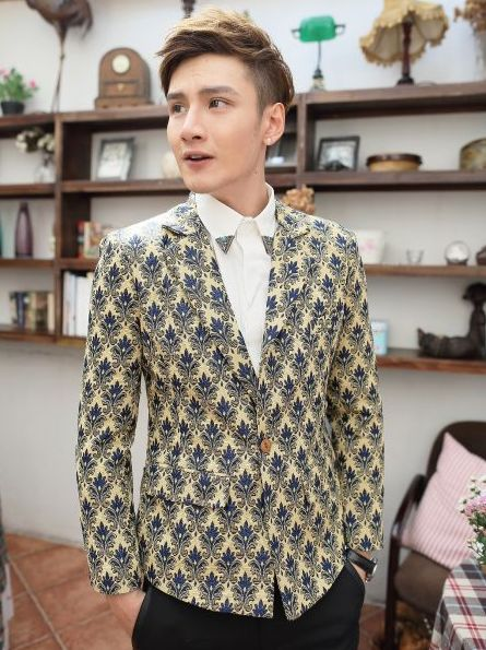 2013 Winter One Button Europe Vintage Patterns Fitted Men Thick Suits