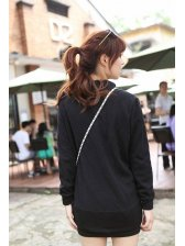 Retro Look Solid Color Stand Collar One Button Cardigans