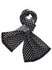 British Fashion Plaid Two-Side Patterns Tassel Men Scarf