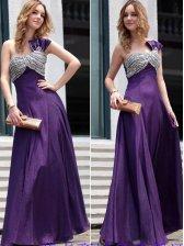 European Noble Women Oblique Shoulder Diamonds Studded Evening Dress