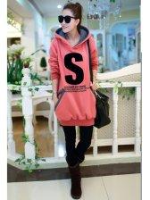 Korean Casual Style Color Block S Printing Long Sleeve Hoodies