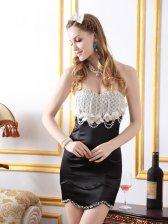 Fairytale Elegant Strapless Chiffon Splicing Wrap Hip Pearl Beaded Dress