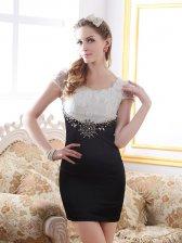 European Elegant Color Block Classical Square Collar Beaded Wrap Hip Dress