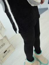 Color Block Slim Fitted Corduroy Rabbit Fur Stripes Culottes