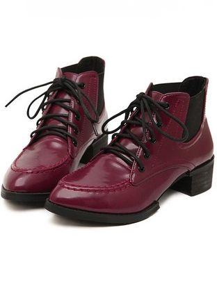 Trendy Fashion Bandage Elastic Band Chunky Heel Platform Ankle Boots