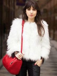 Classy Style Faux Fur Solid Color Round Neck Short Coats