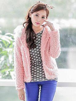 Fashion Temperament Fur Collar Hooded Single Breasted Tweed Short Coats