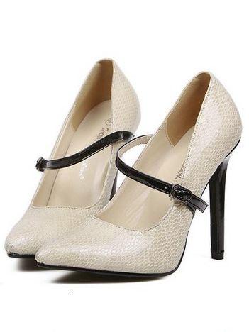 Elegant Lady Belt Buckle Pointed Toe High Heel Pumps