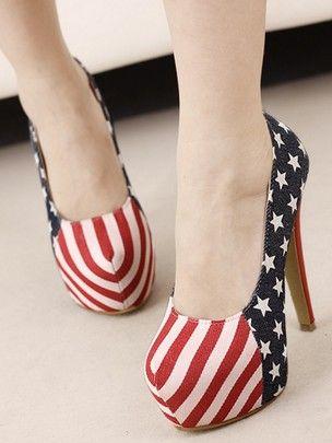 Fashion Design Color Block Round Toe Thin Heel Platform Pumps