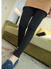 Korean Street Look Side Lace Splice Long Leggings