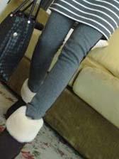 Simplicity Fashion Solid Color Thickening Slim Leggings