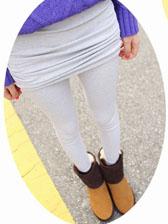 Korean Trendy Drape Skirt Thickening Slim Leggings