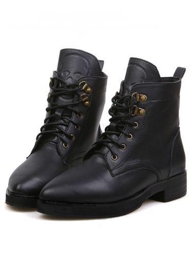 Latest Style Bandage Chunky Heel Platform Ankle Boots