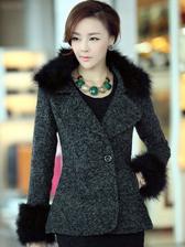 Newest Arrival Winter Ostrich Add Cotton Wool Short Coat