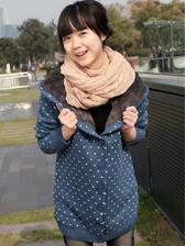 Hot Sale Loose Big Yards Wool Cardigan Hooded Sweater Coat
