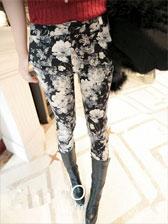 New Arrival Vintage Floral Slim Pencil Pants