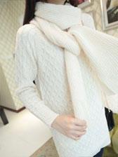Korean Style Temperament Round Collar Long Sleeve Sweater