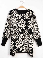 China Style Vintage Long Sleeve Big Size Pullovers