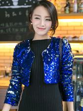 New Fashion Special European Club Sequin Cardigan Short Coat