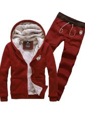 Versatile Sporty Men Zipper Plain Color Velvet Hooded Hoodies Activewears
