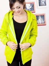 Lowest Price Highest Quality Fluorescence Green Hooded Sweater