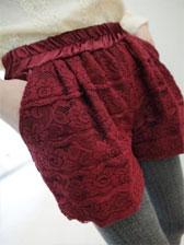 Simple Style Double Pockets Temperament Woolen Short Pants