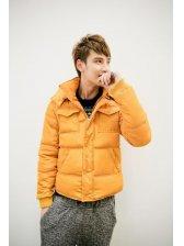 Charming Fashion Men Pure Color Chest Pocket Zipper Hooded Cotton Jacket