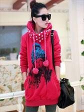 Popular Trendy Fashion Printed Polo Collar Long Sleeve Hoodies