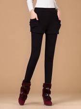 Fashion Latest Popular Plus Velvet False Two Piece Long Pants