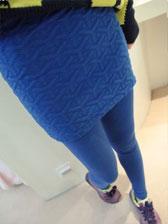 Newest Fashion Style Cotton Embossing Velvet Thickening Pantskirt
