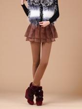 New Arrival Plus Velvet Warm Winter False Two Piece Long Trouser