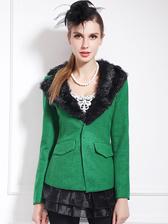 Top Fashion Suits Female V Collar Pure Colour Warm Tops Short Design