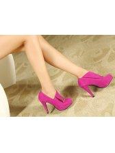 Beautiful Lady Metal Decoration High Heel Platform Ankle Boots