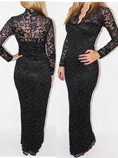 Sexy Lady Hollow Out Lace V-Neck Slim Dress
