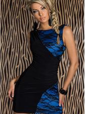 Sexy Night Pub Trend Color Block Splice Backless Dress