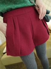 2013 Winter New Thickening Pocket Decoration Short Pants