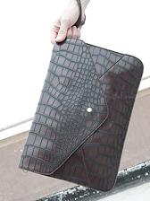 Korea Style Alligator Pattern Snap Fastener Men Clutch Bags