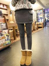 2013 Winter New Side Pocket Wrap Solid Color Letter Pattern Legging