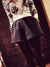 New Arrival Fashion Hot Drilling Pocket Decoration Woolen High Waist Short Pants