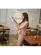 Korean Ladylike Look Wrap Flounced Double-Breasted Slim Fake Two-Piece Dress