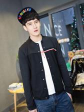 2014 Newest Color Block Star Stripes Little Grid Patchwork Men Fitted Jackets