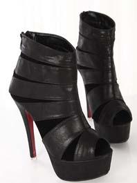2014 Hot Sale Spring Peep Toe Back Zipper Color Block Thin Heels High Platform Boots