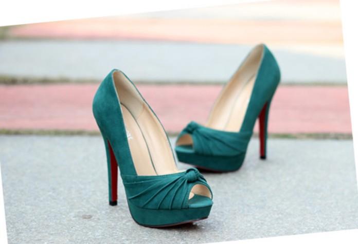 Hot Luxury Style OL Ladylike Bow Design Peep Toe All Match Thin Heel Platform High Heels